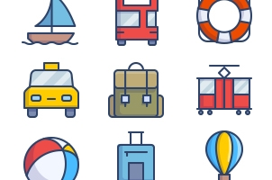 The Color Icons Set :: Transportation