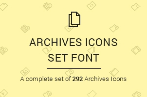 The Icons Font Set :: Archives