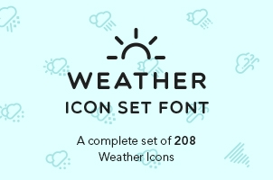 The Icons Font Set :: Weather