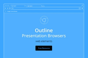 Vector Browser Outline Psd