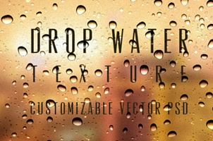 Psd Water Drops Background Texture