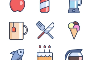 The Color Icons Set :: Food