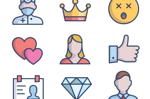 The Color Icons Set :: Social People